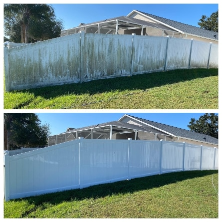 Vinyl Fence Cleaning tampa, florida
